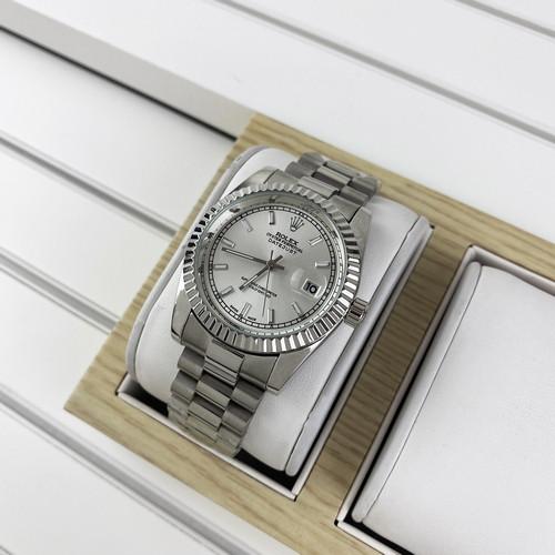Часы Мужские Rlx Datejust Silver-White