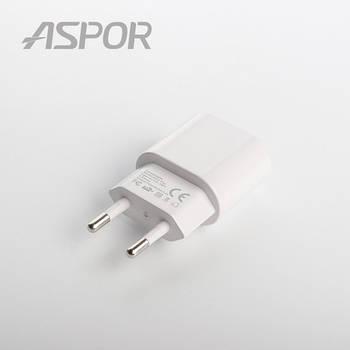 СЗУ Aspor- A818PLUS micro (2.4A iQ) +кабель чёрный