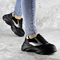 Жіночі кросівки Fashion Mandy 1342 36 розмір 23 см Чорний, фото 3
