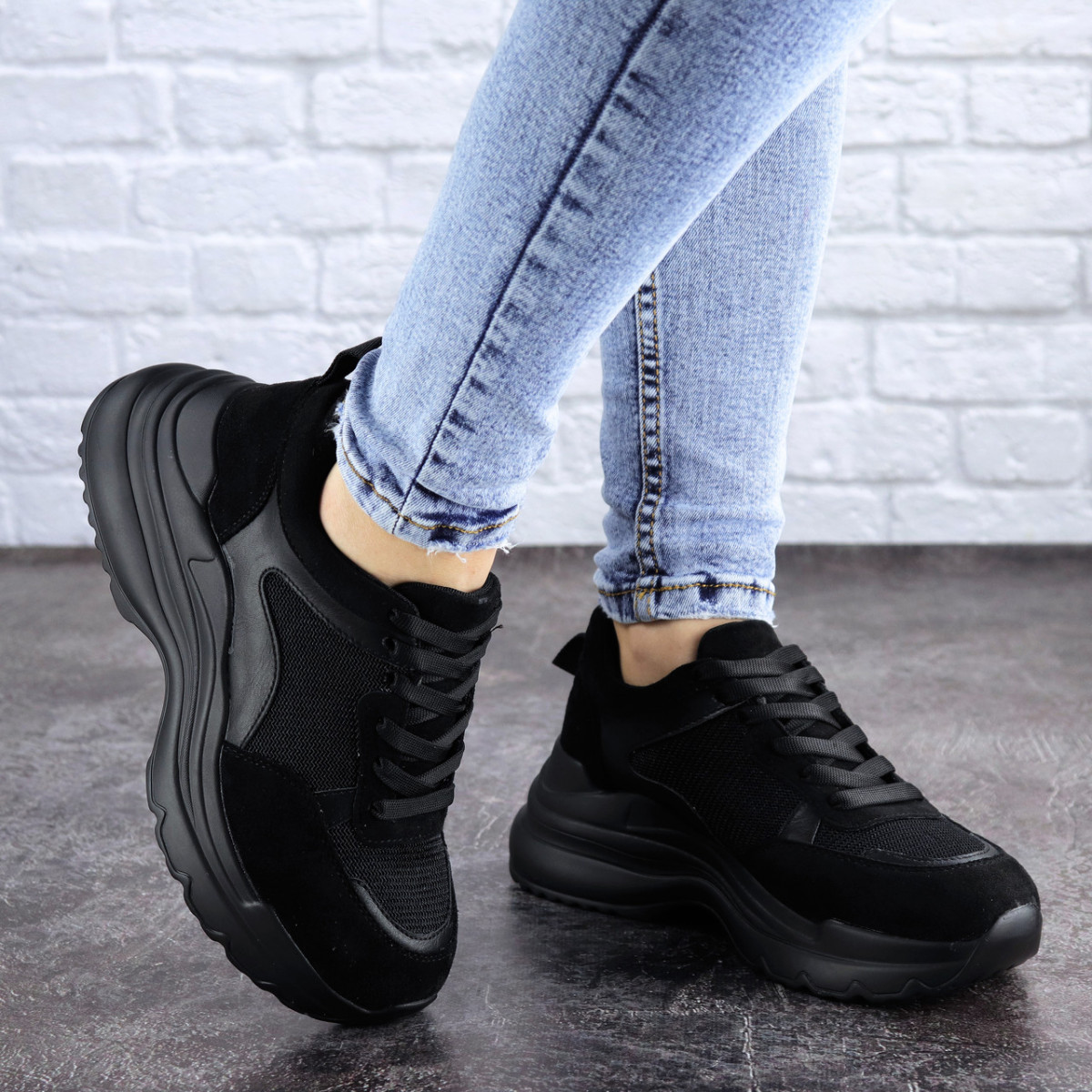 Женские кроссовки Fashion Mishu 2041 37 размер 23,5 см Черный