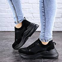 Жіночі кросівки Fashion Mishu 2041 37 розмір 23,5 см Чорний, фото 3