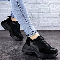Жіночі кросівки Fashion Mishu 2041 37 розмір 23,5 см Чорний, фото 2