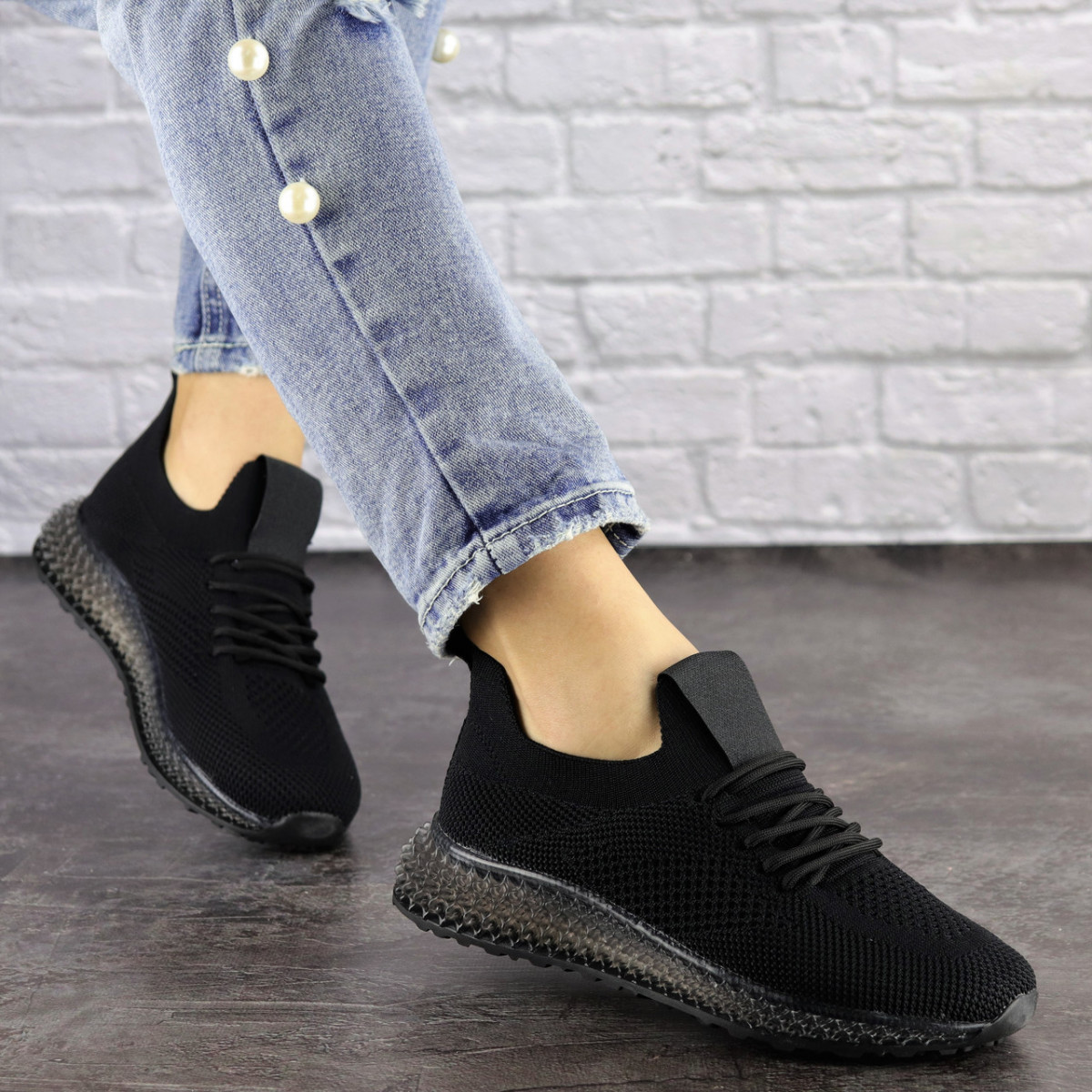 Женские кроссовки Fashion Naya 1484 39 размер 25 см Черный