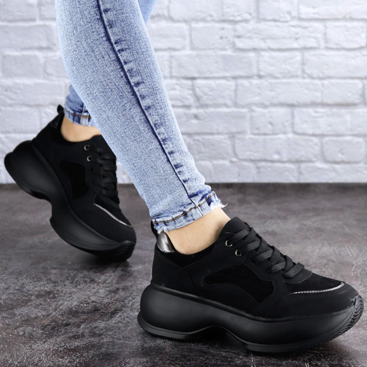 Женские кроссовки Fashion Negrita 2056 36 размер 23 см Черный