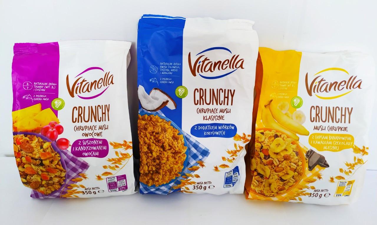 Кранчи (мюсли) в ассортименте Vitanella Crunchy, 350г