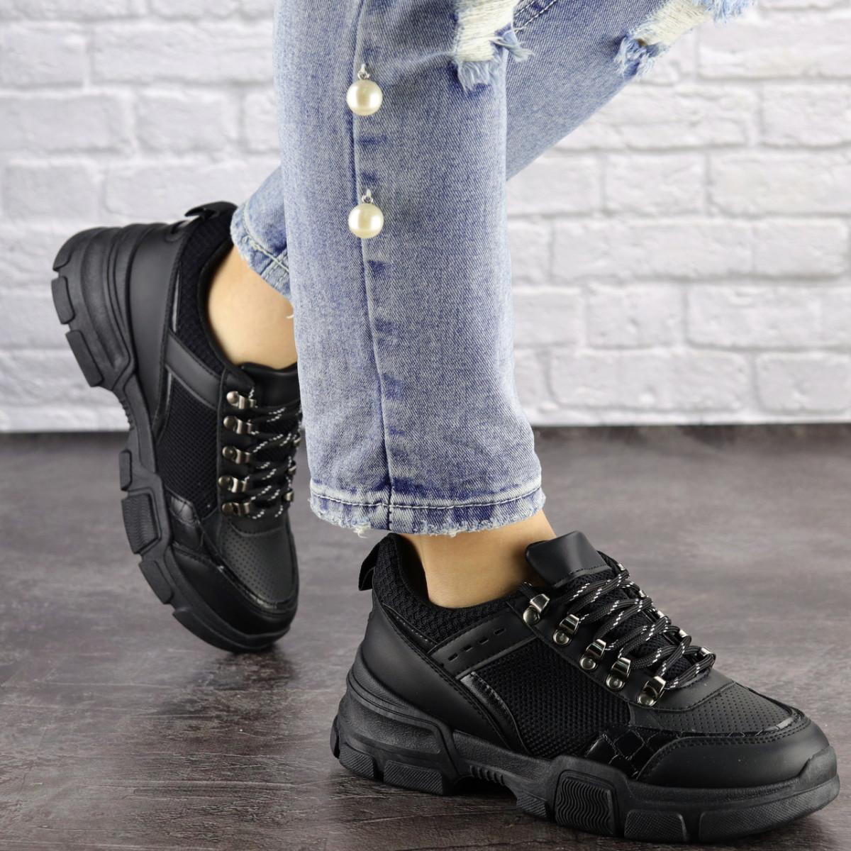 Женские кроссовки Fashion Nikky 1462 37 размер 24 см Черный