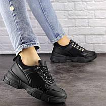 Женские кроссовки Fashion Nikky 1462 37 размер 24 см Черный, фото 3