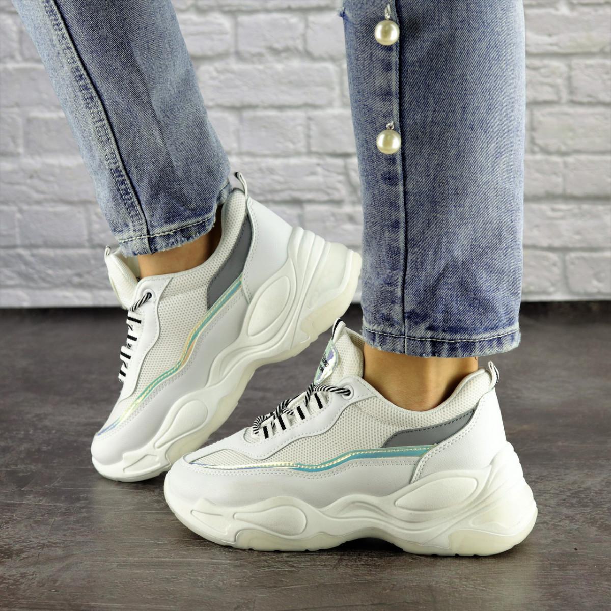 Женские кроссовки Fashion Noiraud 1496 37 размер 24 см Белый