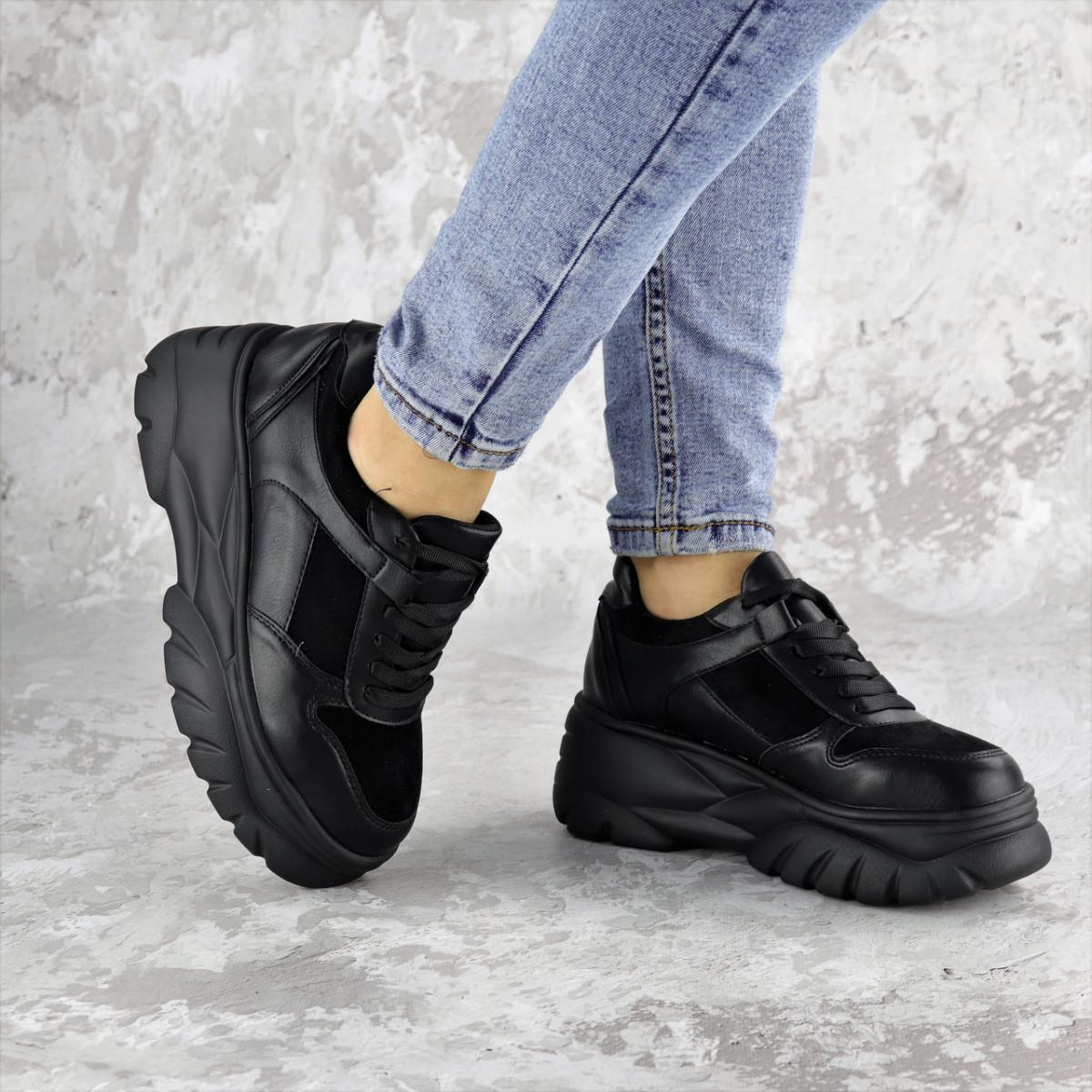 Жіночі кросівки Fashion Paige 1372 36 розмір 23 см Чорний