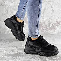 Жіночі кросівки Fashion Paige 1372 36 розмір 23 см Чорний, фото 3