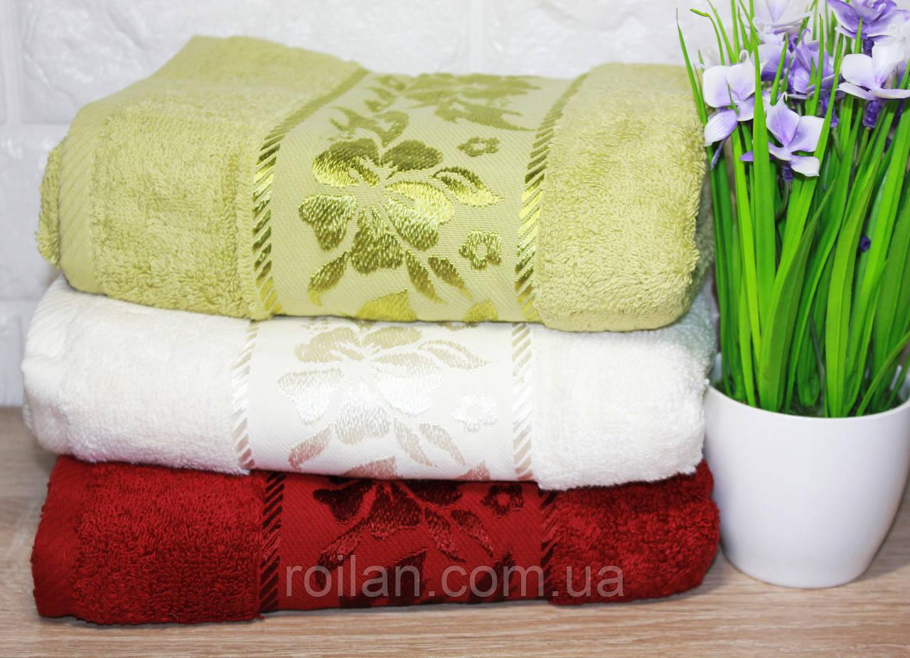Лицевые турецкие полотенца Пион Бордо