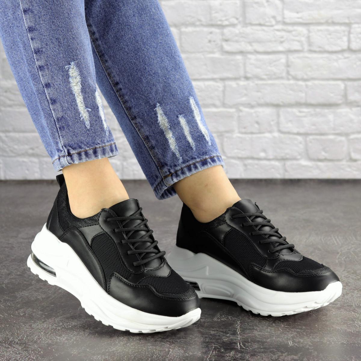 Женские кроссовки Fashion Towser 1677 37 размер 23,5 см Черный