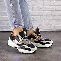 Жіночі кросівки Fashion Ulysse 1493 36 розмір 23 см Чорний, фото 2