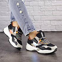 Жіночі кросівки Fashion Ulysse 1493 36 розмір 23 см Чорний, фото 3