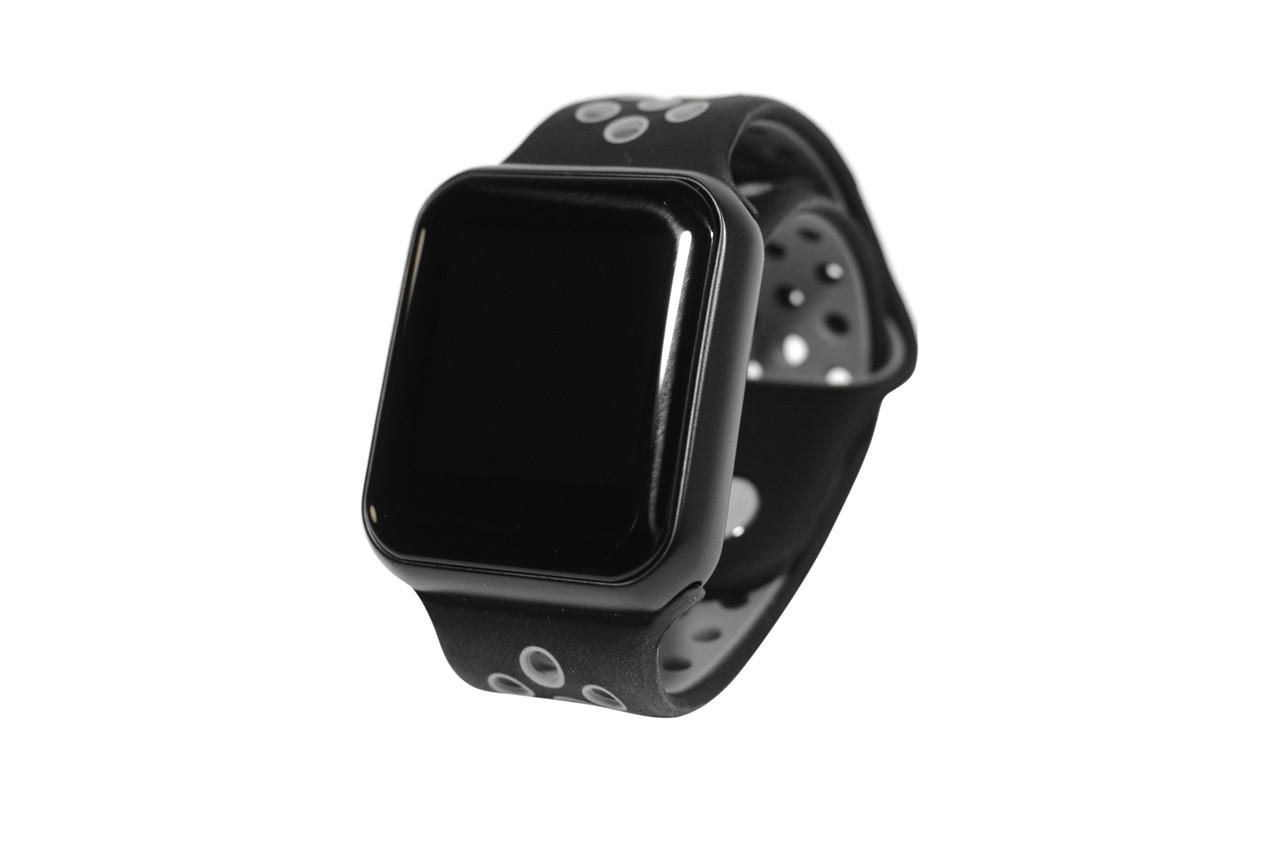 Умные часы Smart Watch F8 (фитнес-браслет, смарт часы)(чёрно-серые)