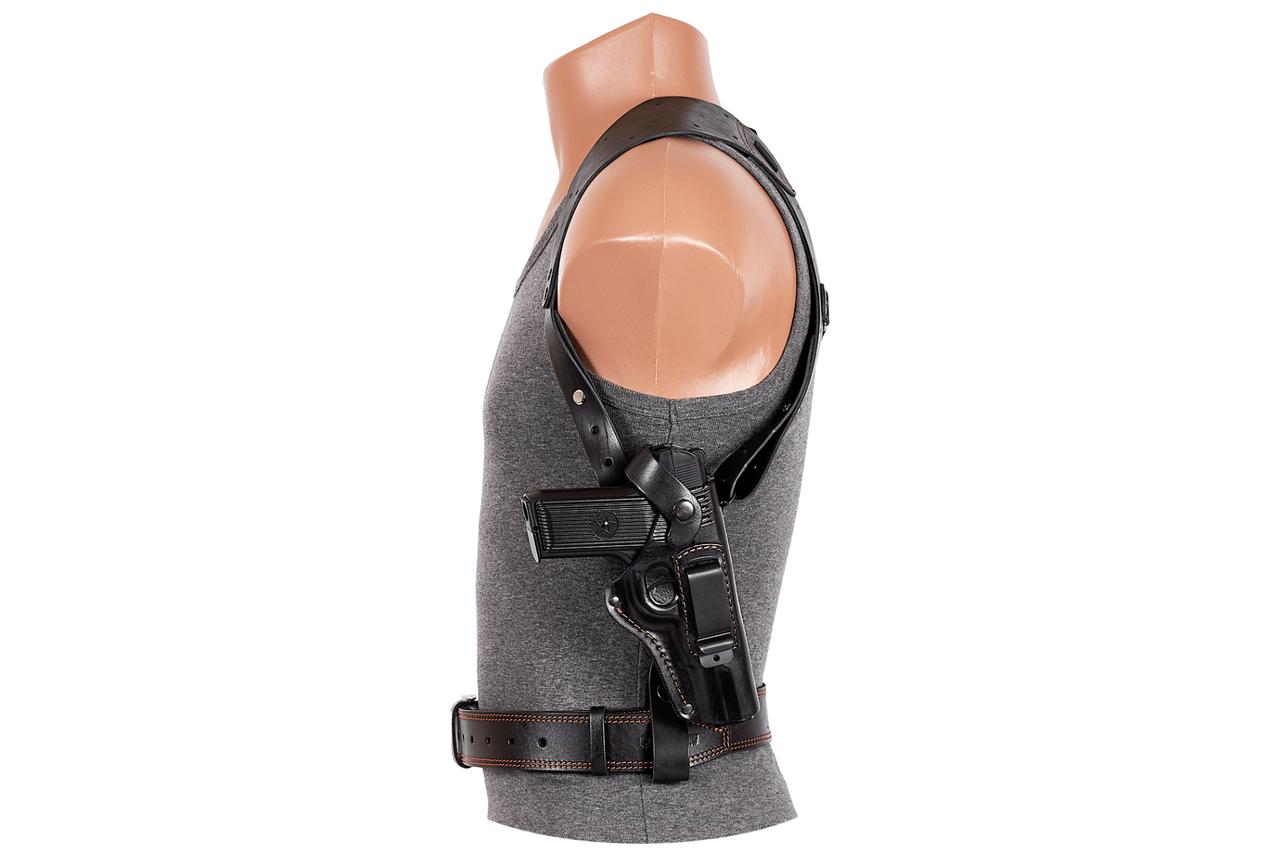 Кобура ТТ оперативная формованная с клипсой (кожа, черная)