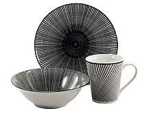 Набор посуды Interos Космо black 3 предмета (CLW-6)