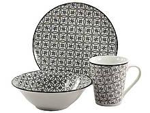 Набор посуды Interos Вуаль dark 3 предмета (CLW-11)