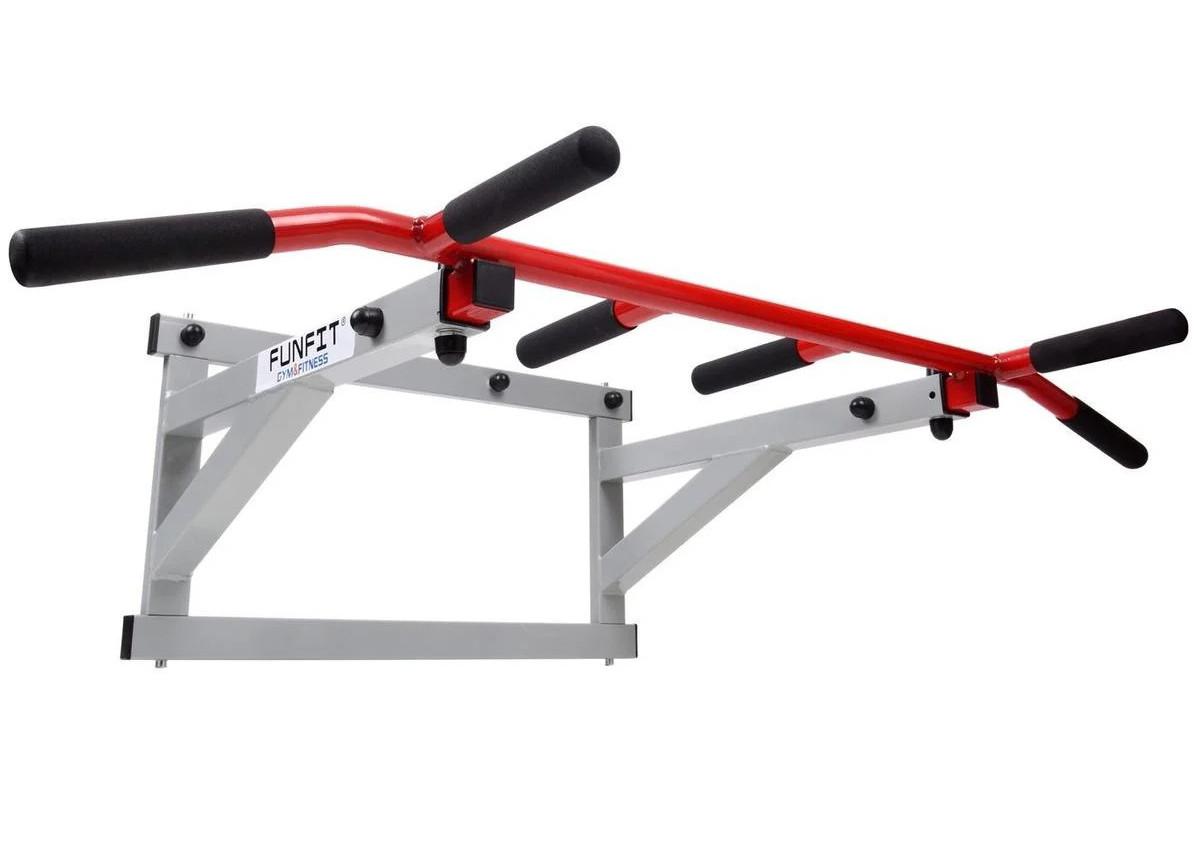 Спортивний настінний турнік FunFit до 300 кг з гнутою поперечиною для дому на стіну