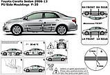 Молдинги на двери для Toyota Corolla 2006-2012, фото 4