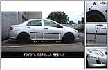 Молдинги на двери для Toyota Corolla 2006-2012, фото 2