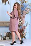 Платье с пояском  (Батал), фото 4