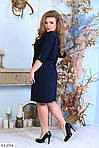Платье с пояском  (Батал), фото 6