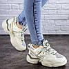 Жіночі кросівки Fashion Agatha 2048 36 розмір 23 см Бежевий, фото 3