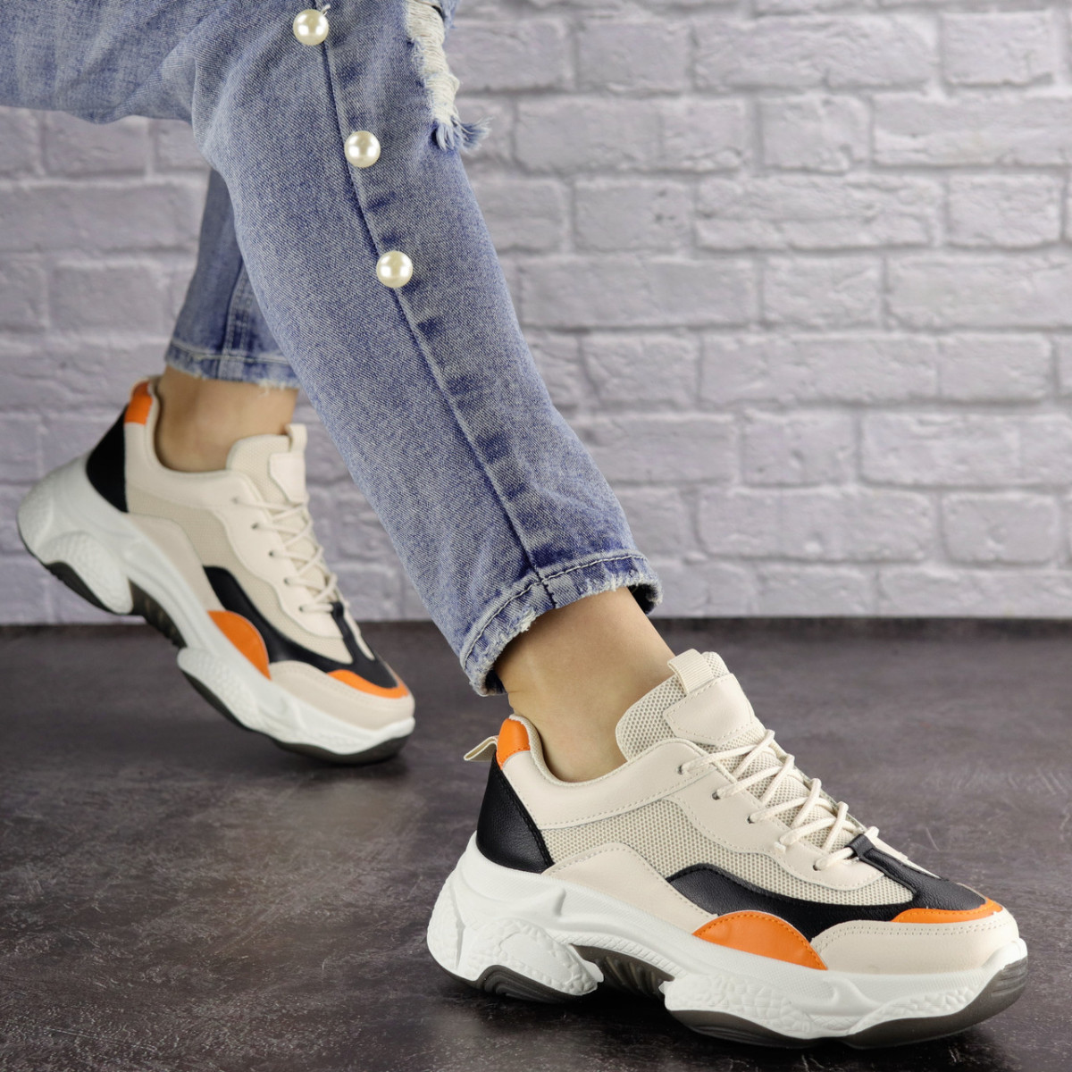 Жіночі кросівки Fashion Bailey 1576 36 розмір 22,5 см Бежевий