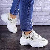 Женские кроссовки Fashion Braxton 1742 39 размер 24 см Бежевый, фото 2