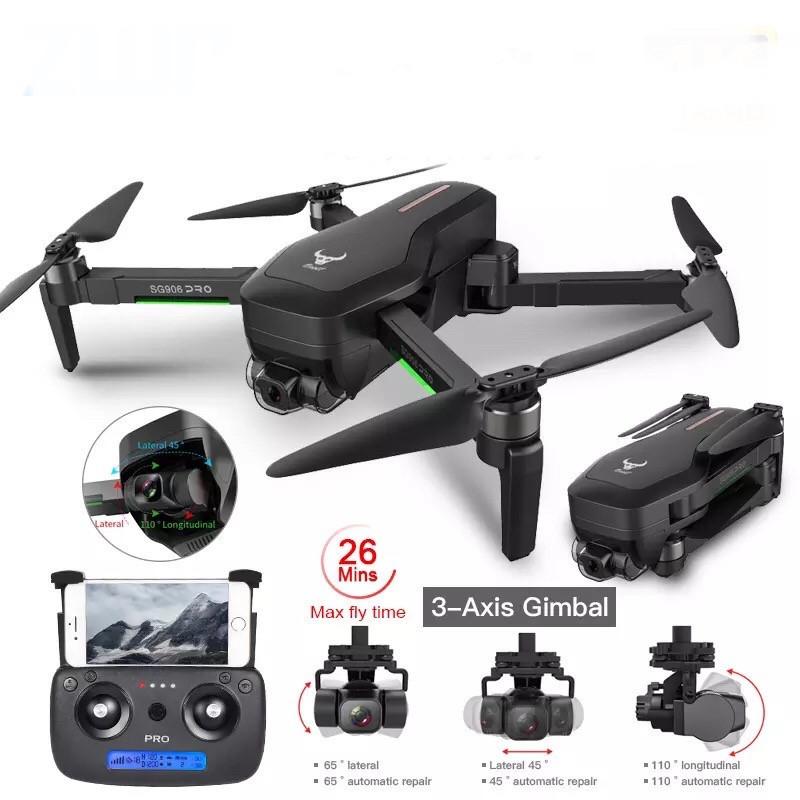 Квадрокоптер SG906 PRO 2 + Кейс GPS 3-x осевая стабилизация  Wi-Fi FPV 4K Камера  дистанция 1500м 26 минут