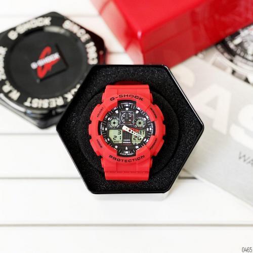 Часы Мужские Спортивные GShock  GA-100 Red-Black
