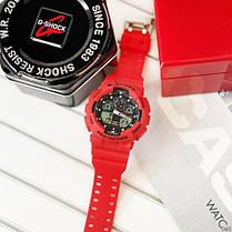 Часы Мужские Спортивные GShock  GA-100 Red-Black, фото 3
