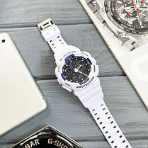 Часы Мужские Спортивные  GA-100 White-Blue-Black, фото 2