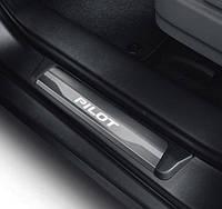 Honda Pilot 2015-16 накладки на дверные пороги с подсветкой LED передние задние новые оригинальные