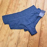 Комплект трусиков из 2 штук, размер M, цвет джинс