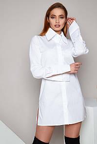 Жіноча асиметрична сорочка з подовженою спинкою (Тьєра jd)