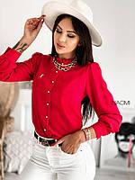 Женская рубашка на пуговицах, фото 1
