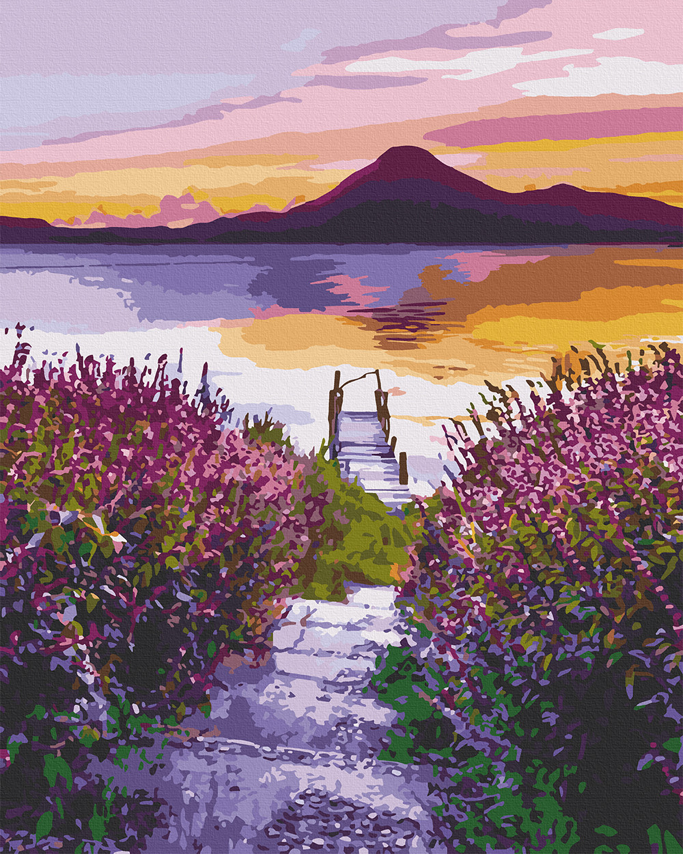 10541-AC Набор-раскраска по номерам Озеро Атитлан.Гватемала, Без коробки