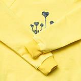 Красивый детский реглан для девочки удлиненный SmileTime I love you, лимонный, фото 2