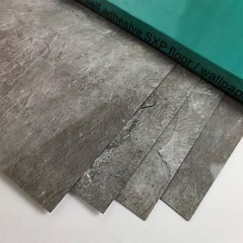 Виниловая плитка Серебристый мрамор (длина 600 мм) гибкая самоклеящаяся