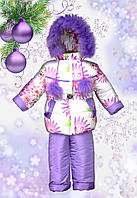 """Зимняя курточка и комбинезон для девочки """"Вероника"""". Размеры 26 (1-2 года),  28, 30, 32"""