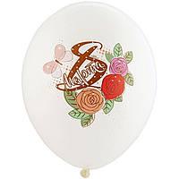 """Латексные шары BELBAL 8 Марта Розы 12"""" 30см 5 шт"""