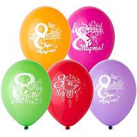 "Латексные шары BELBAL 8 Марта Цветы 12"" 30см 5 шт"