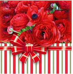 Подарунковий паперовий пакет КВАДРАТ 23*24*10 см Рожевий