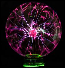 Настільна лампа-нічник плазмовий кулю Magic Ball 15см