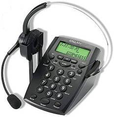 Телефон для call-центру обробки викликів CALLANY з гарнітурою шумозаглушення HT500