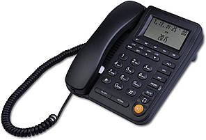 Дротяний телефон з ідентифікатором абонента з роз'ємом гарнітури HePesTer P-017-J