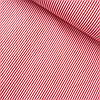 Ткань со средней красной полоской на белом, ш. 160 см