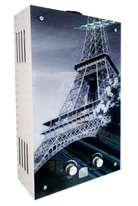 Газова колонка Rocterm ВПГ-10 АЕ (кольорова -Ейфелева вежа)